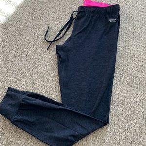 VS Pink ultimate yoga pant joggers charcoal grey S